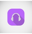 flat icon Cordless Headphone vector image