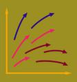 flat icon on stylish background arrow chart vector image vector image