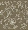 floral pattern grange seamless vector image vector image