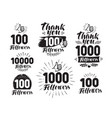 followers label or icon set of web icons for vector image