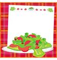 fresh vegetable salad card vector image