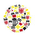 germany country theme symbols color icons in vector image vector image