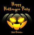 halloween background with happy halloween party vector image vector image