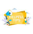 helpful tips concept flat style design vector image