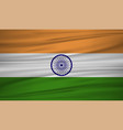 india flag flag of india blowig in the wind eps vector image