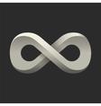 infinity symbol conceptual icon logo template vector image vector image