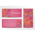 Invitation Valentines Day greeting card vector image vector image