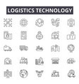 logistics technology line icons signs set vector image vector image
