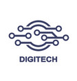 logo - technology biotechnology tech icon and vector image vector image