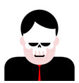 man in mask skull masquerade angry boss vector image