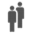men halftone dotted icon vector image