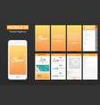 Mobile app travel agency material design ui ux