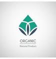 Organic natural product logo vector image vector image