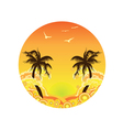 Palm Tree Sunset vector image vector image
