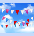 party pennants slinger realistic vector image