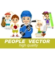 people with children s characters vector image vector image