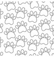 pet paw animal seamless pattern vector image vector image