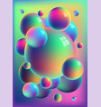 rainbow anodized titanium balls background vector image