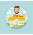 Real estate agent giving thumb up vector image vector image