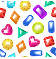 realistic detailed 3d color jewels seamless vector image