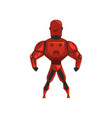 red robot spacesuit superhero cyborg costume vector image vector image