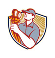Refrigeration Air Conditioning Mechanic Shield vector image vector image