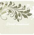 Retro Floral Ornament Design vector image vector image