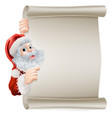 santa christmas poster vector image vector image