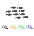 school of fish icon vector image