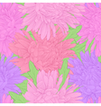 seamless background with flowers vector image vector image