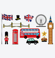 set london city element vector image