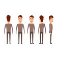 set of male characters man boy person user vector image vector image