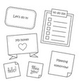 sticky note to do list in doodle style doodle vector image