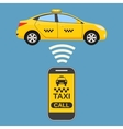 Taxi mobile app concept vector image vector image