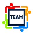 Team Square Logo vector image