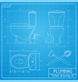 toilet bowl outline front side and top view vector image