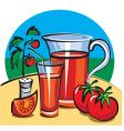 tomato juice vector image vector image