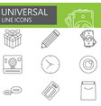 universal line icons set web outline sign vector image vector image