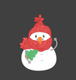 winter holidays snowman cheerful snowmen in diffe vector image