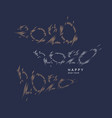 2020 lettering options the inscription happy new vector image vector image