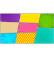 abstract colorful comic background vector image vector image