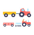 agrimotor farming tractors vector image vector image