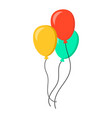 air balloon flat icon birthday baloon on white vector image vector image