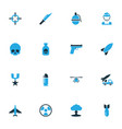 battle colorful icons set collection of fighter vector image