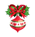 beautiful christmas toy with decorative elements vector image