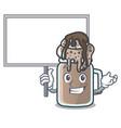 bring board milkshake character cartoon style vector image vector image