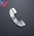 Call icon symbol 3D style Trendy modern design vector image