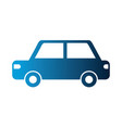 car sedan silhouette isolated icon vector image vector image