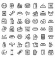 cat food icons set outline style vector image vector image