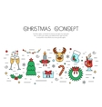 Christmas and New Year colorful isolated concept vector image vector image